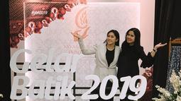 Annisa dan Aliya mampir ke GBN di JCC, sebelum Annisa mengejar flight sore ke Singapura untuk jadwal jaga Memo (Liputan6.com/Instagram/ruby_26)
