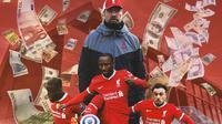 Liverpool - Jurgen Klopp, Divock Origi, Naby Keita, Xherdan Shaqiri (Bola.com/Adreanus Titus)