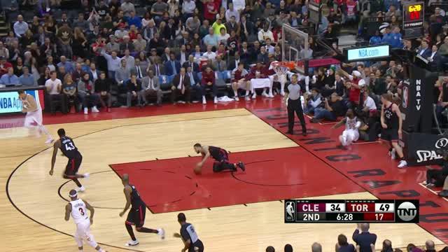 Berita video game recap NBA 2017-2018 antara Toronto Raptors melawan Cleveland Cavaliers dengan skor 133-99.