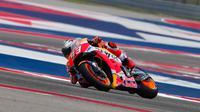 Pembalap Repsol Honda, Marc Marquez, menjadi yang tercepat pada sesi kualifikasi MotoGP Amerika Serikat di Austin, Texas, Minggu (22/4/2018) dini hari WIB. (MotoGP.com)