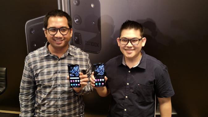 Ki-Kan: Product Manager Samsung Mobile SEIN Taufiqul Furqan dan Product Manager Samsung Mobile SEIN Verry Octavianus Wijaya. Liputan6.com/Agustinus Mario Damar