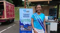 Putri Selam Indonesia 2019 Anavaliza Atmadja. (Liputan6.com/Dinny Mutiah)