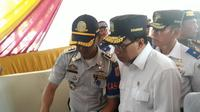 Menhub Budi Karya Sumadi meninjau Terminal Kampung Rambutan, Jakarta (Dok Foto: Merdeka.com/Dwi Aditya Putra)
