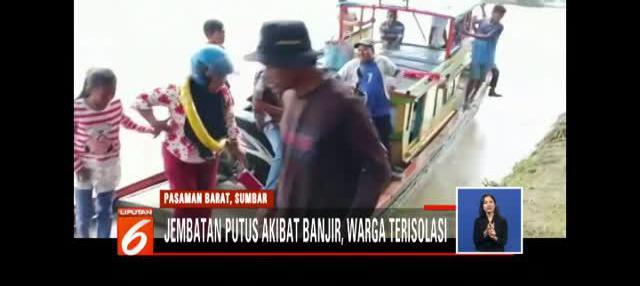 Permukiman warga terisolasi akibat kembali putusnya jembatan penghubung yang diterjang banjir bandang.