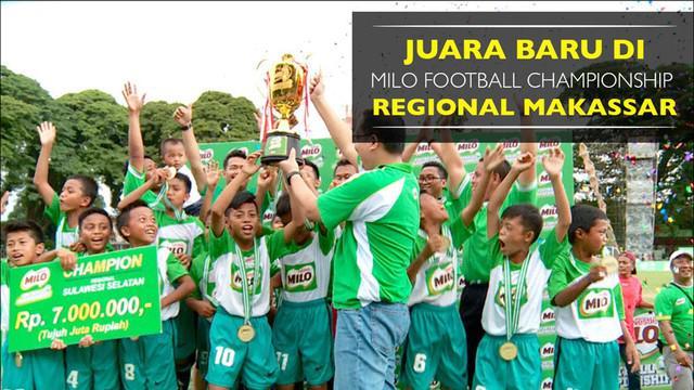 SDN 112 Belajen Parepare keluar sebagai juara MILO Football Championship 2017 Regional Makassar setelah mengalahkan SDN 133 Inpres Talawe.
