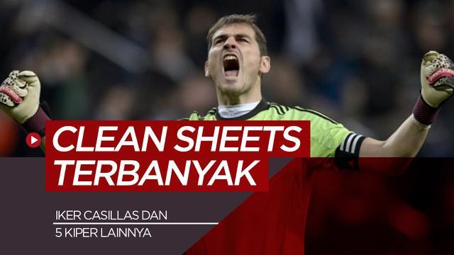 Berita motion grafis kiper dengan clean sheets terbanyak abad ini, Gianluigi Buffon dan Iker Casillas di antaranya.