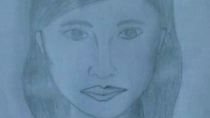 Sketsa wajah korban mutilasi di Malang yang dibuat polisi untuk mengungkap identitasnya (istimewa)