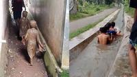 5 Kelakuan Kocak Orang Main di Selokan Ini Bikin Geleng Kepala (sumber: Instagram.com/receh.id)