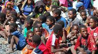 Ilustrasi anak-anak Papua. (Liputan6.com / Katharina Janur)