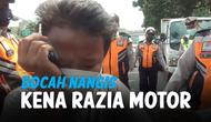 BOCAH NANGIS KETAKUTAN KENA RAZIA MOTOR