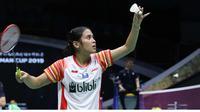 Tunggal putri Indonesia Gregoria Mariska Tunjung di Piala Sudirman 2019. (twitter.com/INABadminton)