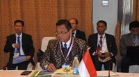Direktur Utama KAI Edi Sukmoro dalam Asean Railways CEOs' Conference (ARCEOs') di Nay Pyi Taw, Myanmar yang berlangsung 26-29 November 2018. Liputan6.com/Ilyas Istianur P