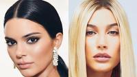 Supermodel Kendall Jenner dan Hailey Baldwin. (Instagram/kendalljennerhaileybaldwin)