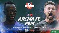 Shopee Liga 1 - Arema FC Vs PSM Makassar Head to Head Pemain (Bola.com/Adreanus Titus)