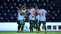 Timnas Indonesia meraih kemenangan 3-0 atas Chinese Taipei pada leg 2 Play Off Piala Asia 2023 di Buriram Stadium, Senin (11/10/2021) malam WIB. (dok. AFC)