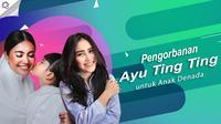 Pengorbanan Ayu Ting Ting untuk anak Denada. (Foto: Bambang E Ros/Bintang.com Instagram/denadaindonesia Desain: Nurman Abdul Hakim/Bintang.com)