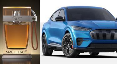 Parfum pengingat aroma bensin dan mobil listrik Ford Mustang Mach-E GT. (via Ford)