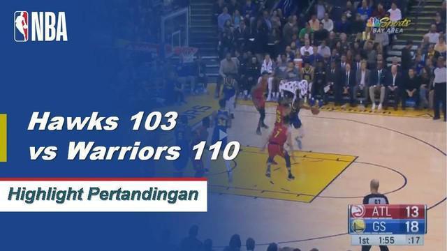 Kevin Durant dan Klay Thompson bergabung dengan 53 poin untuk memimpin Warriors dalam kemenangan atas Hawks, 110-103.