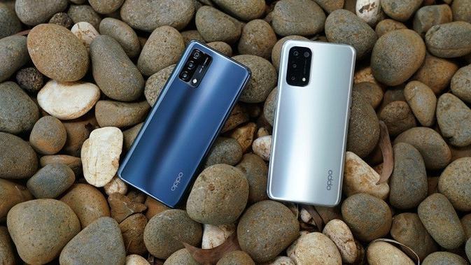 Oppo A74 dan Oppo A74 5G yang baru meluncur. (Foto: Oppo Indonesia)
