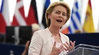 Ursula von der Leyen, wanita pertama yang terpilih sebagai presiden Komisi Eropa (AFP/Frederick Florin)