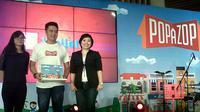Popazop disebut sebagai sebagai virtual shopping town, dan diklaim memiliki konsep kreatif pertama di Indonesia.