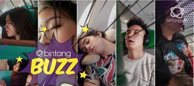 Tidur saat penerbangan, 5 seleb ini tetap cantik meski  sedang mangap.