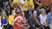 Guard Toronto Raptors Fred VanVleet membawa timnya juara NBA melalui tembakan tiga angka. (Frank Gunn/The Canadian Press via AP)
