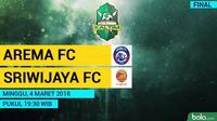 Piala Gubernur Kaltim 2018 Arema FC Vs Sriwijaya FC (Bola.com/Adreanus Titus)