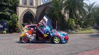 Honda Brio Satya bergaya Racing Street. Itasha (Hafid/Otosia)