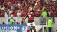 Penyerang Flamengo, Gabriel Barbosa. (AFP/CARL DE SOUZA)