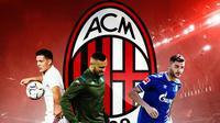 AC Milan - Luka Jovic, Nikola Maksimovic, Ozan Kabak (Bola.com/Adreanus Titus)