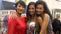 Para bintang film Ini Kisah Tiga Dara, Tara Basro, Shanty dan Tatyana Akman. [Foto: Zulfa Ayu Sundari/Liputan6.com]