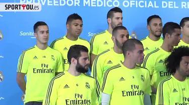 Rambut Marcelo bek Real Madrid menjadi korban ulah iseng Cristiano Ronaldo saat sesi pemotretan iklan untuk sebuah produk.