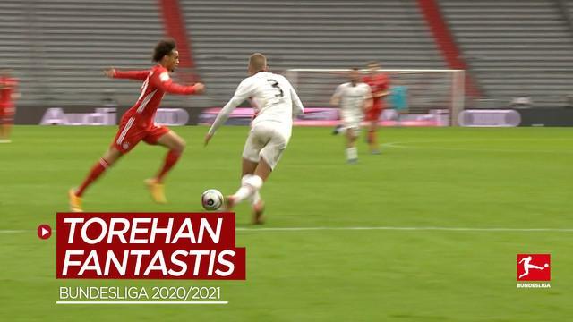 Berita video 10 gol fantastis terbaik di Bundesliga 2020/2021, salah satunya torehan dari Leroy Sane.