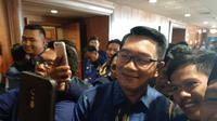 Pagi ini Gubernur Jawa Barat Ridwan Kamil menghadiri Kongres Partai NasDem yang digelar di JI-Expo Kemayoran, Jakarta, Minggu (10/11/2019).