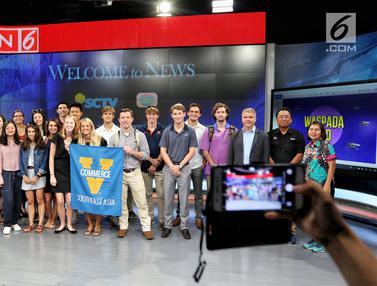 Kunjungan Mahasiswa Virginia University ke Studio SCTV