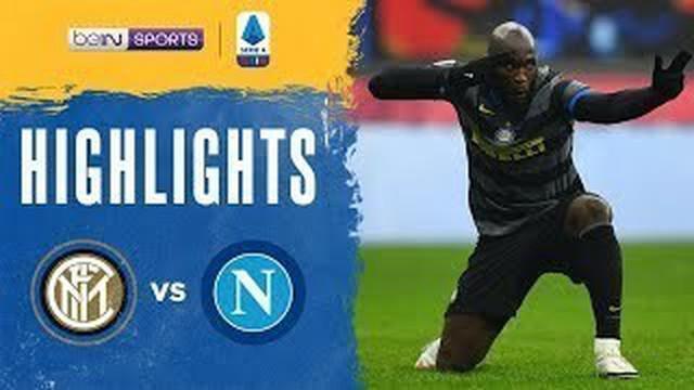 Berita video, Inter Milan menang atas Napoli berkat gol tunggal Romelu Lukaku
