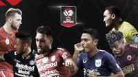Marco Simic, Wander Luiz, Willian Pacheco vs Fandi Eko, Yakob Sayuri, Rizky Pora. (Bola.com/Dody Iryawan)
