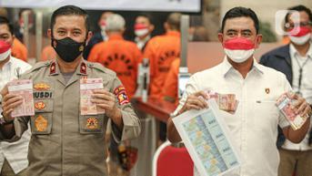 FOTO: Bareskrim Polri Ungkap Kasus Pemalsuan Uang