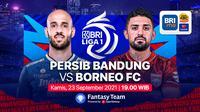 Big Match BRI Liga 1, Persib Bandung vs Borneo FC Kamis, (23/9/2021)
