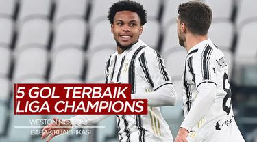 Berita Video Gol-Gol Terbaik Liga Champions Babak Kualifikasi Grup, Weston McKennie Nomor 1