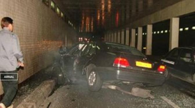 Kecelakaan mobil Putri Diana. (Reuters)