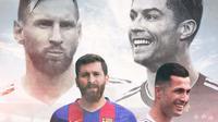 Reza Paratech - Lionel Messi, Biwar Abdullah - Cristiano Ronaldo (Bola.com/Adreanus Titus)