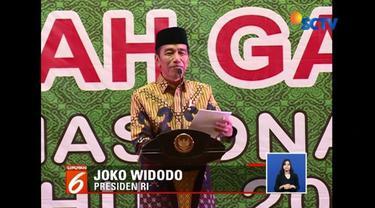 Disela-sela mengajak warga untuk menghadapi pemilu dengan damai, Presiden Jokowi menyanyikan lagu milenial bertema religius, Deen Assalam yang dipopulerkan Nissa Sabyan.
