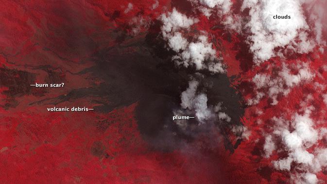 Gunung Soputan NASA. (NASA)