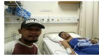 Robertus, mahasiswa asal NTT menjadi korban bom gereja Surabaya saat ini sedang dirawat di RS International Surabaya (Liputan6.com/Ola Keda)