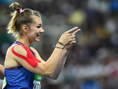 Sara Kolak adalah atlet lempar lembing putri yang berhasil melakukan lemparan sejauh 66,18m pada final lempar lembing putri Olimpiade Rio 2016 di Stadion Olympic, Rio de Janeiro, Brasil, (19/8/2016). (AFP/Jewel Samad)