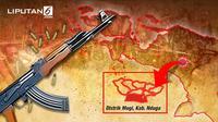 Banner Infografis Baku Tembak TNI Vs KKB Papua. (Liputan6.com/Abdillah)