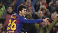 Carles Alena pemain La Masia yang menjanjikan di Barcelona (LLUIS GENE / AFP)