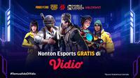 Nonton Live Streaming Turnamen Esports Indonesia Gratis di Vidio. (Sumber : dok. vidio.com)